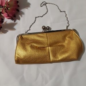 BIJOUX TERNER yellow clutch purse..